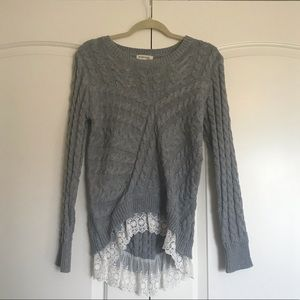 Knitted gray sweater (never worn)